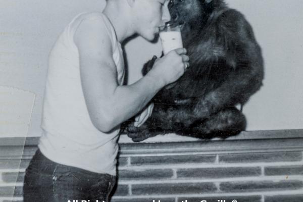 IVAN LARRY DRINKING MILK