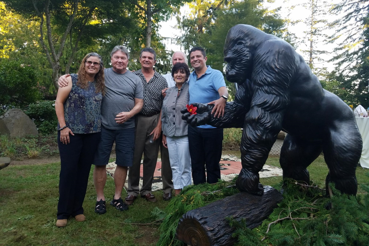 Ivan the Gorilla and his family